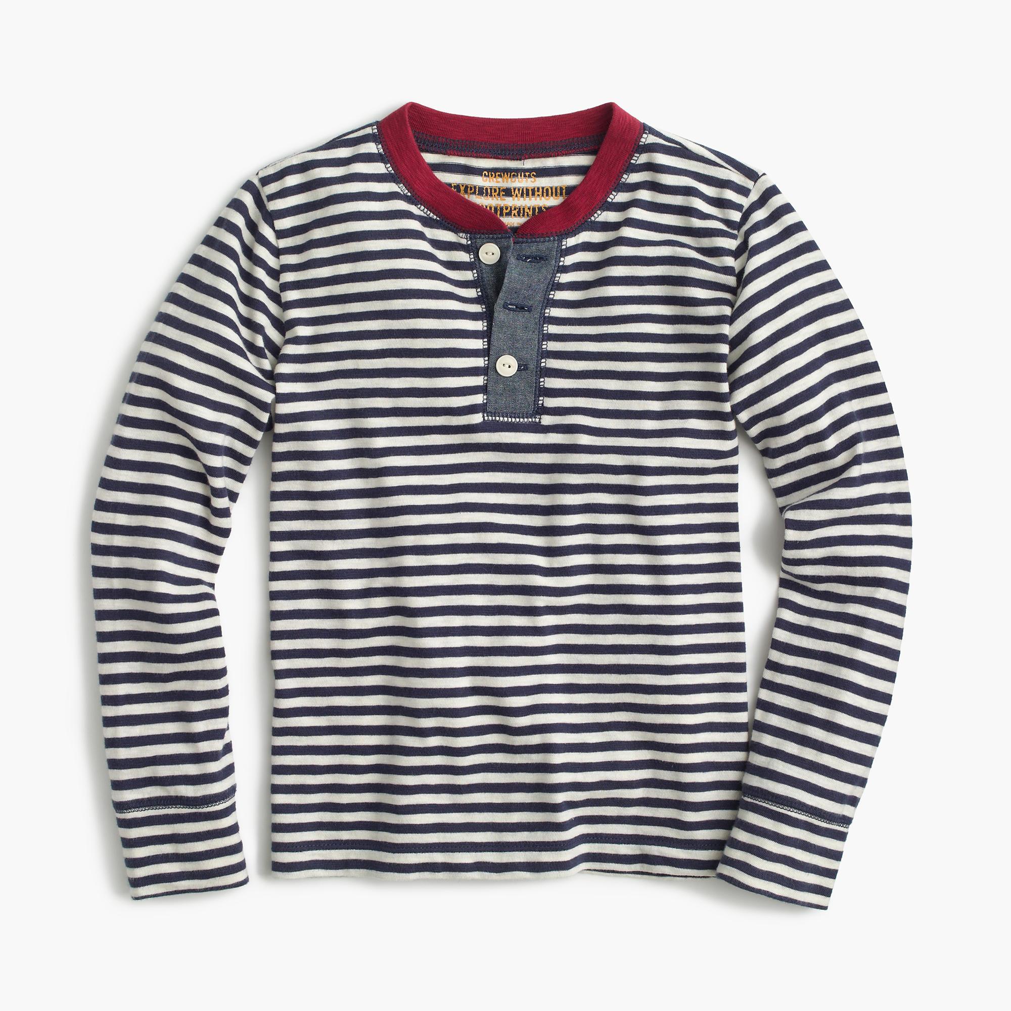 Boys 39 Long Sleeve Striped Ringer Henley T Shirt Boys