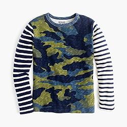 Boys' long-sleeve camo mash-up T-shirt