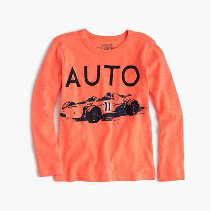"Boys' long-sleeve ""auto"" T-shirt"