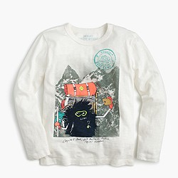 Boys' long-sleeve Max the Monster hiking T-shirt