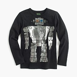 Boys' long-sleeve robot T-shirt
