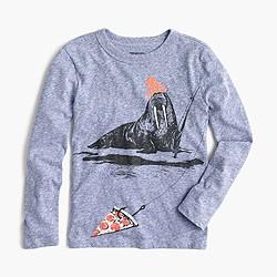 Boys' long-sleeve walrus fishing T-shirt