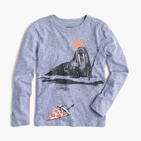 Boys' long-sleeve walrus fishing T-shirt