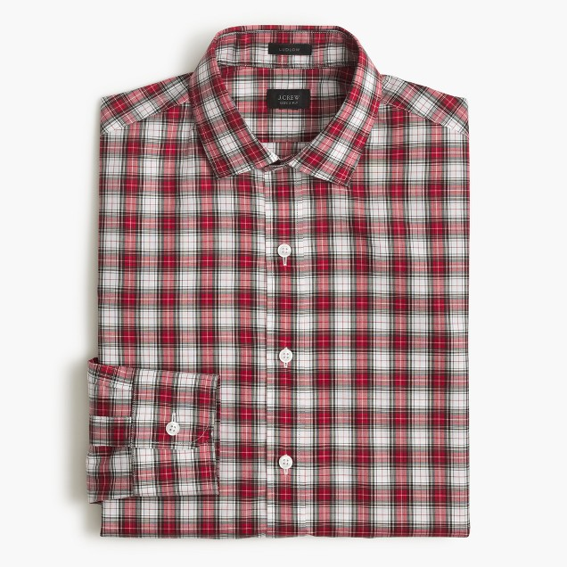Ludlow shirt in red tartan