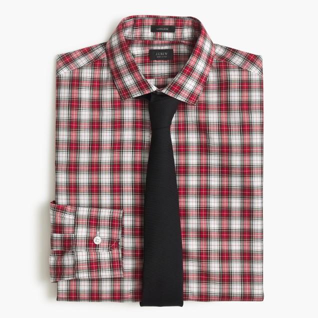 Ludlow shirt in red tartan