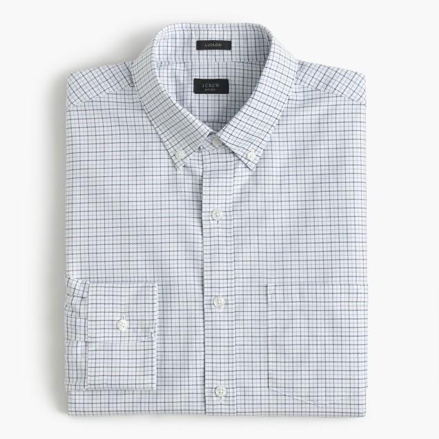 Ludlow shirt in tattersall oxford
