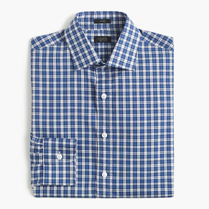 Crosby shirt in blue tartan