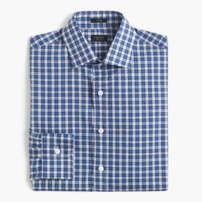 Crosby shirt in blue tartan