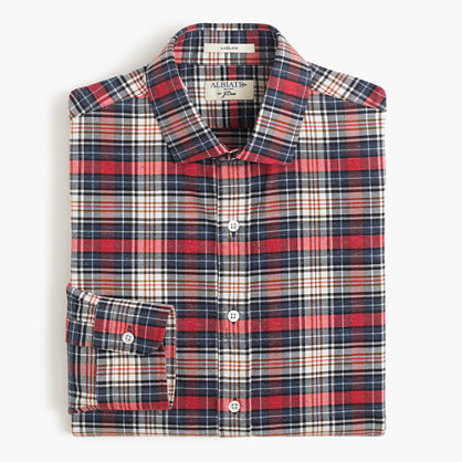 Albiate 1830 for J.Crew Ludlow shirt in red plaid