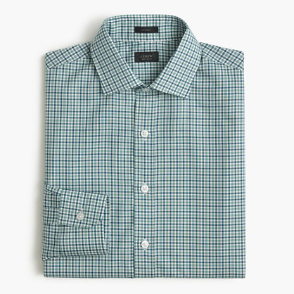 Crosby shirt in laurel green check