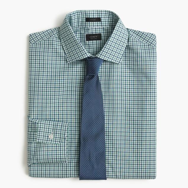 Crosby shirt in laurel green check