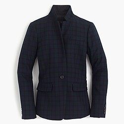 Regent blazer in Black Watch with satin lapel