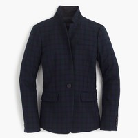 Petite Regent blazer in Black Watch with satin lapel
