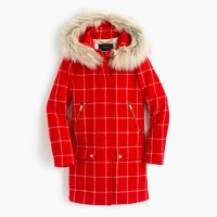 Chateau parka in windowpane check