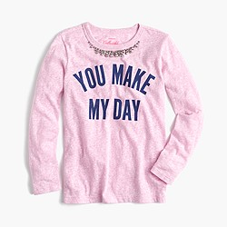 """Girls' """"you make my day"""" necklace T-shirt"""