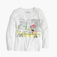 Girls' Olive in an NYC taxi T-shirt