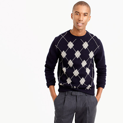 Lambswool argyle sweater