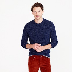 Marled cotton crewneck sweater