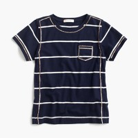 Girls' sequined striped T-shirt