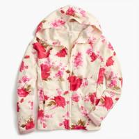 Girls' floral splash hoodie