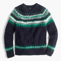Brushed wool Fair Isle sweater