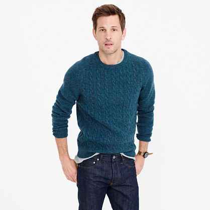 Lambswool cable sweater