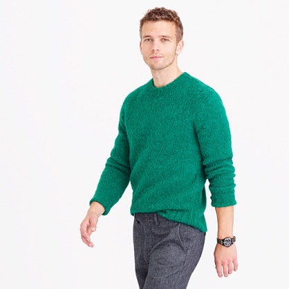 Brushed wool crewneck sweater