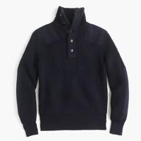 Wallace & Barnes Italian wool military henley