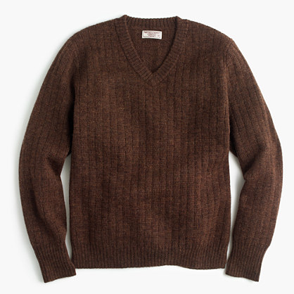 Wallace & Barnes Italian wool V-neck sweater