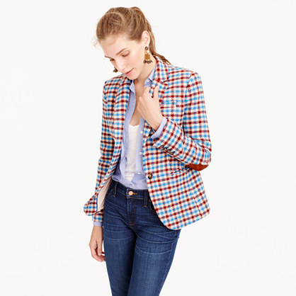 Campbell blazer in crimson plaid