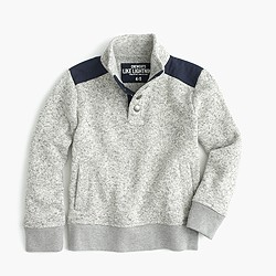 Boys' summit fleece half-snap sweater