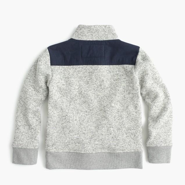 Boys' summit fleece half-snap sweater