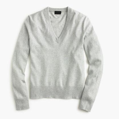 Italian cashmere easy V-neck sweater