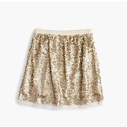 Girls' sequin tulle skirt