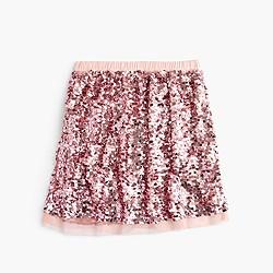 Girls' sequin tulle skirt