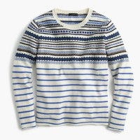Lightweight wool Fair Isle striped sweater
