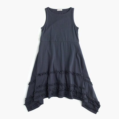 Girls' ruffle handkerchief dress