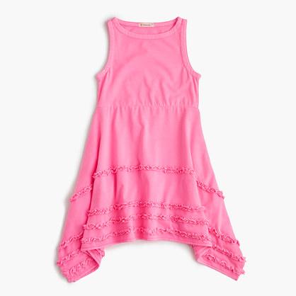 Girls' ruffle handkerchief dress