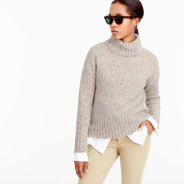 Mockneck sweater in Italian yarn