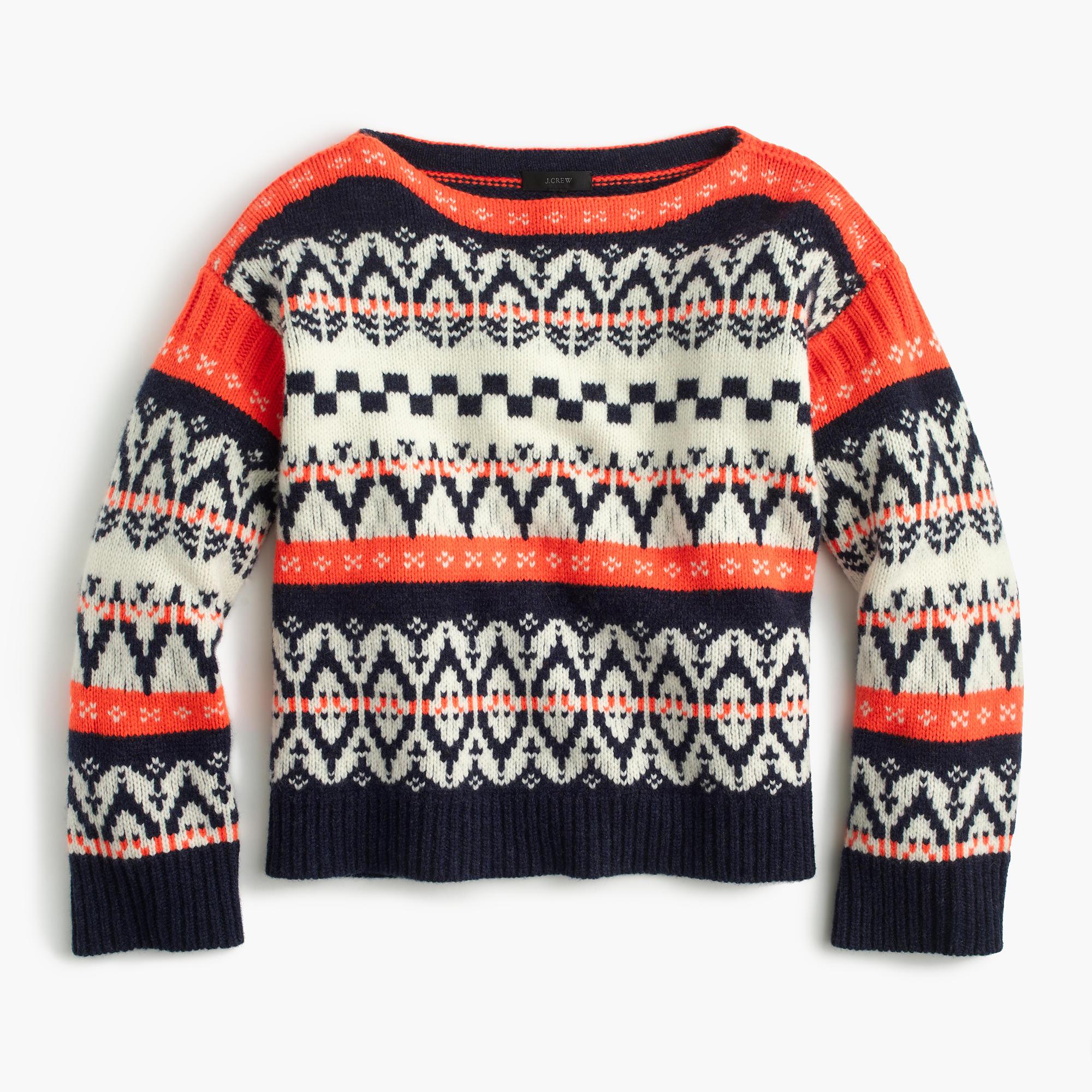 Festive Fair Isle Sweater : Women's Sweaters   J.Crew