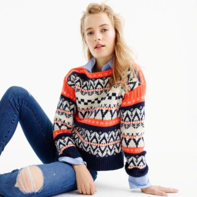 Festive Fair Isle Sweater : Women's Sweaters | J.Crew