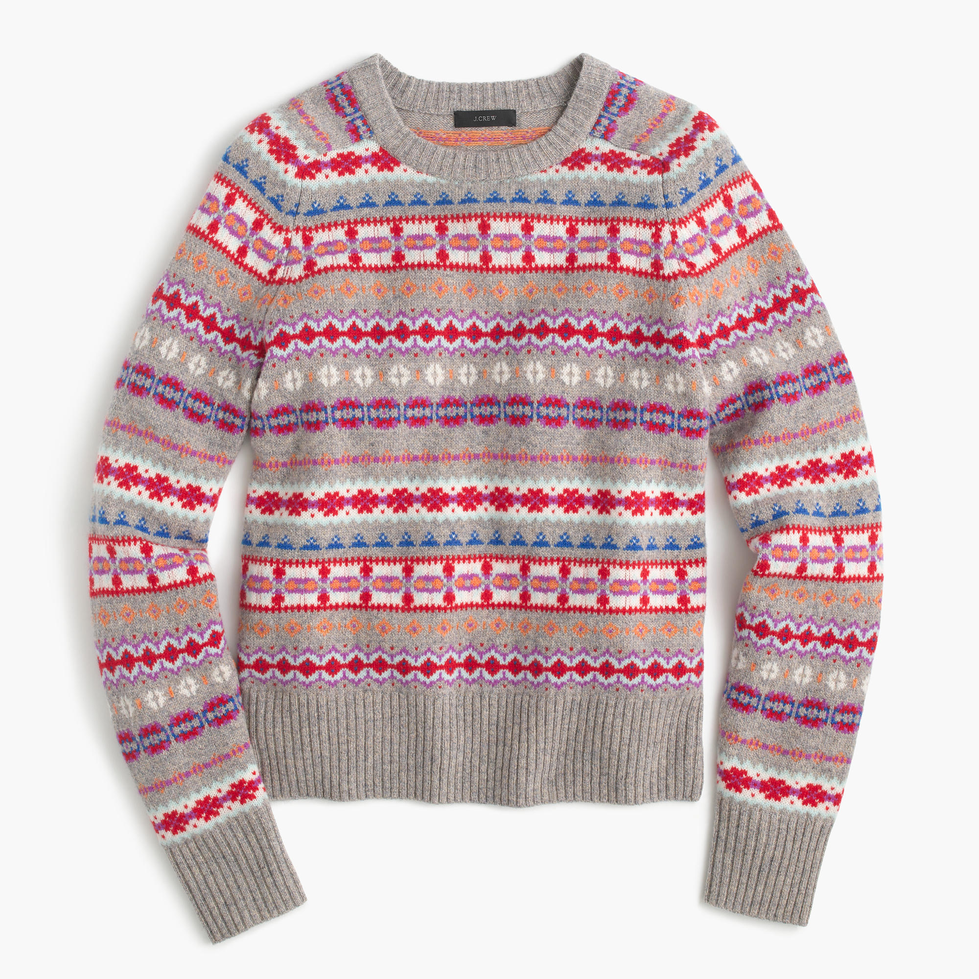 Holly sweater in fair isle women 39 s sweaters j crew for Fair isle pullover damen