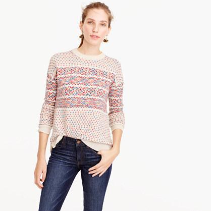 colorful fair isle crewneck sweater women 39 s sweaters j crew. Black Bedroom Furniture Sets. Home Design Ideas
