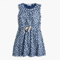 Girls' allover heart-print dress