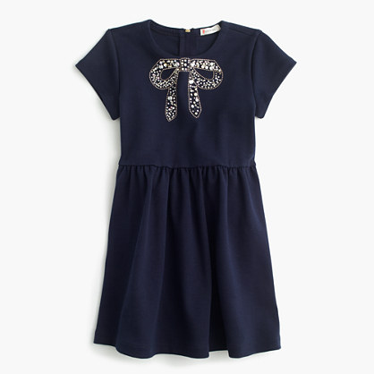 Girls' sparkle-bow dress