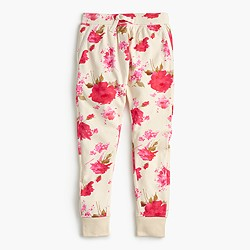 Girls' floral splash sweatpant