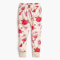 Girls' floral splash sweatpant