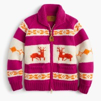 Canadian Sweater Company™ reindeer cardigan sweater