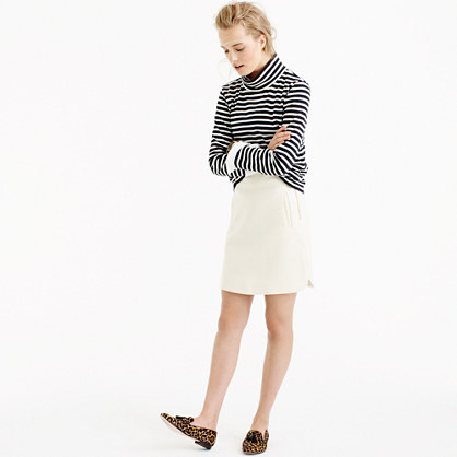 Tall mini skirt in double-serge wool