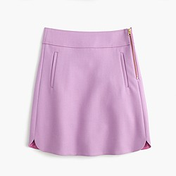 Mini skirt in double-serge wool